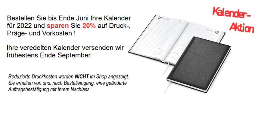 Kalenderaktion, Frühbesteller, Kalender preiswert bedruckt, Werbeartikel Gutschein
