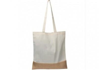 Einkaufstasche aus Jute und Baumwolle