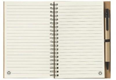 Notizbuch mit ca. 70 Blatt cremefarbenem, liniertem Papier