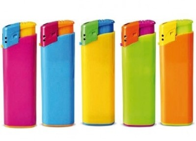 TOM Elektronische Feuerzeuge Harlekin sortierte Farben