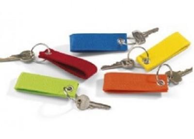 Günstige Filz-Schlüsselanhänger bedruckt mit Logo