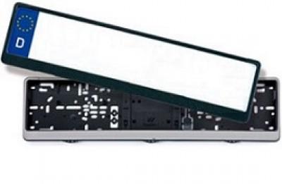 Kennzeichenhalter silberner oder schwarzer Rahmen