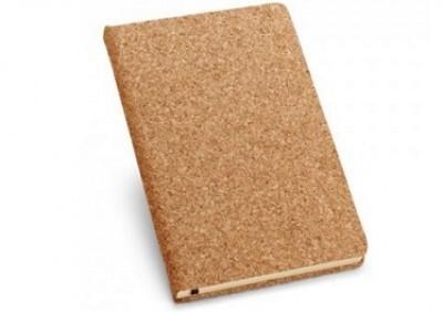 Wertiges A5 Notizbuch mit Korkuschlag und 160 elfenbeinfarbene Seiten