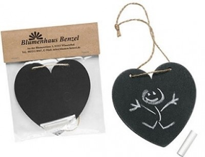Kreidetafel Herz als Werbemittel mit Logo