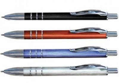 Metallkugelschreiber mit toller gebürsteten Optik