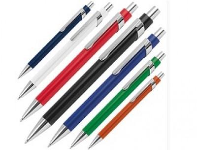 Schöner Werbe-Kugelschreiber aus Metall mit günstiger Gravur