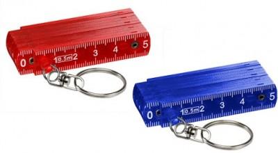 Zollstock Mini in rot und blau, preiswert