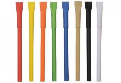 Kugelschreiber aus Pappe in vielen Farben als Werbemittel