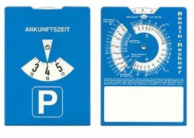 Parkscheibe aus Karton als günstiges Werbemittel