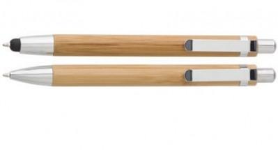 Bambus Kugelschreiber und Bambus Druckbleistift als Werbemittel