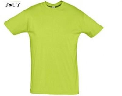 Werbshirt in limegreen mit günstiger Bestickung