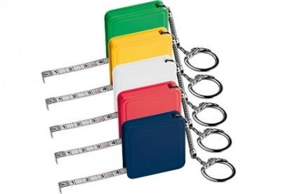 Bandmaß farbig mit Schlüsselkette günstig bedruckt